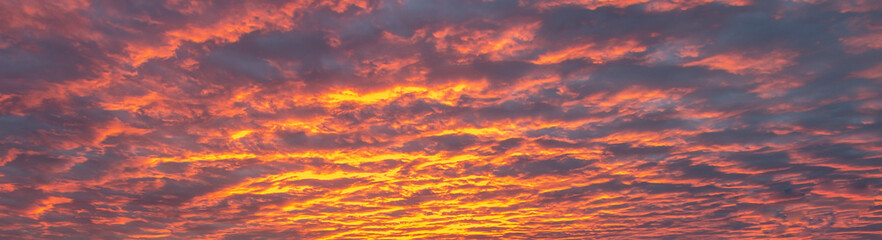 Fiery and Dramatic Sunrise Sky & Clouds