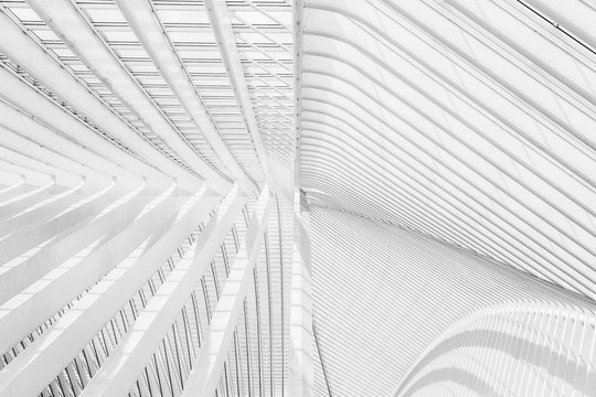 White patterns from modern architecture