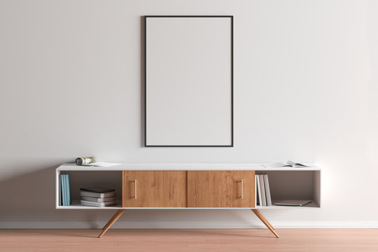 Blank vertical posters mock up with black frame