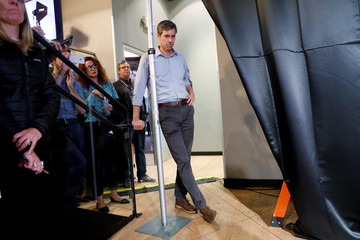 Democratic presidential candidate and former U.S. Rep. Beto O'Rourke waits to be introduced during a SEIU California Democratic Delegate Breakfast in San Francisco, California,