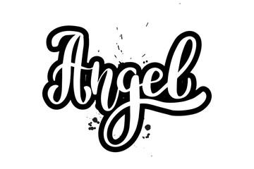 brush lettering angel