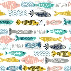Fish pattern seamless decorative design