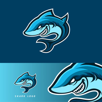 Shark esport gaming mascot logo template