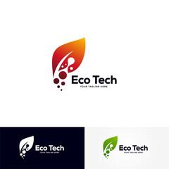 eco technology logo designs template, creative technology logo symbol