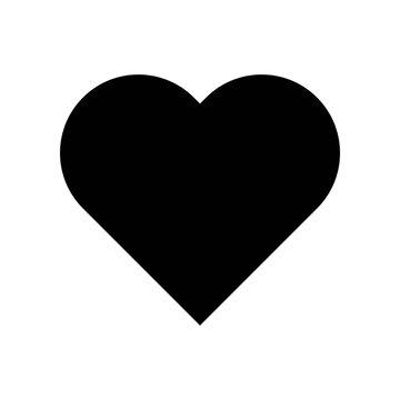 Heart vector, Social media solid style icon