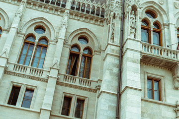 Hungarian Parliament Building, Budapest - close-up on detail