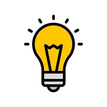 Light Bulb vector, Digital marketing filled icon editable stroke
