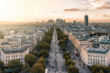 Fototapete - Paris viewed from the Arc De Triomphe