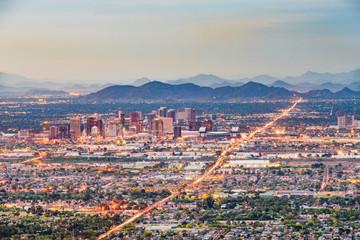 Fototapete - Phoenix, Arizona, USA downtown cityscape at dusk