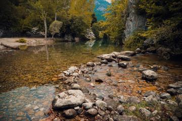 Wall Mural - river in autumn lake