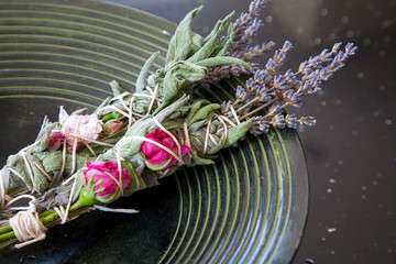 Sage, Rose and Lavender Smudge Sticks for Cleansing the Environment