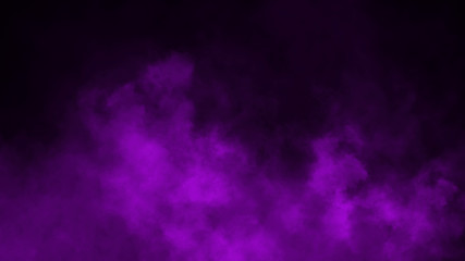 Fototapeta Purple fog and mist effect on black background. Smoke texture . Design element obraz