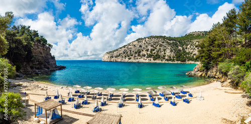 Wall mural Arsanas beach, wild and small beach in the northeastern island of Thassos, Greece