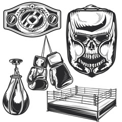 Set of boxing elements