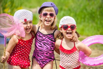Fun kids on the beach