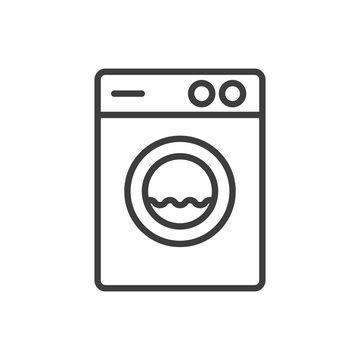 Wash macine line style icon. Vector. Isolated.