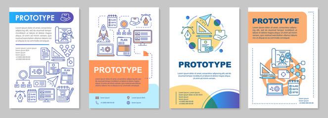 Prototype brochure template layout