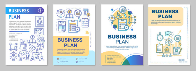 Business plan brochure template layout