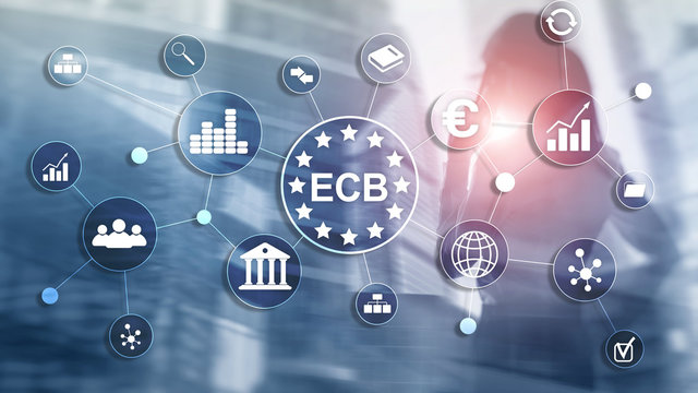 ECB European central bank Business finance concept.