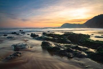 Sunset on Sidmouth Beach - Devon, England