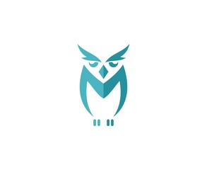 Fotobehang Uilen cartoon Owl logo