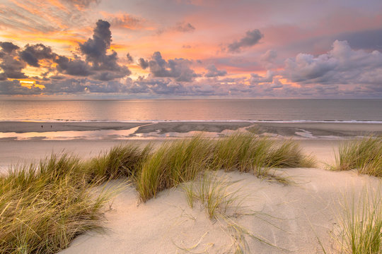 View over North Sea from dune