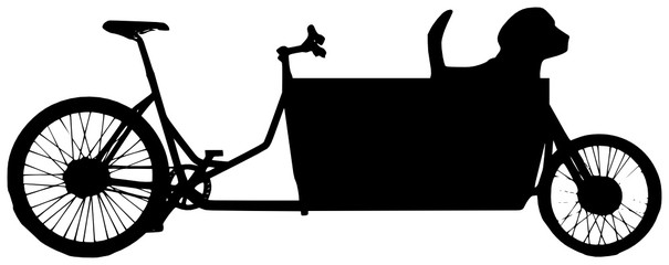 Hund im Lastenrad