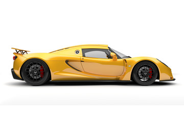 3d render of beautiful sport car