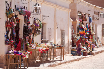 Textile shop in Purmamarca, Jujuy Province, Argentina Fotomurales