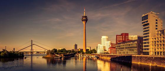 Panorama Düsseldorf Rhein Medienhafen