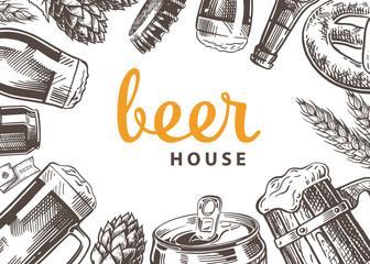 beer sketch template Wall mural