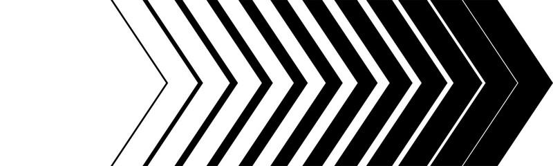 Black Arrow in a row. Arrows Black on White background. Arrows vector icons. Arrow icon
