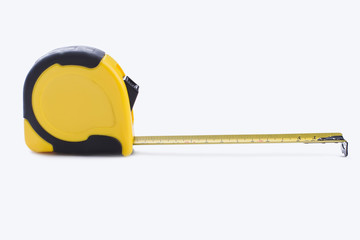 Tape-line isolated on white background. Tape measure for construction work.