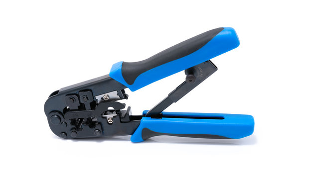 Crimping tool isolated on white background,