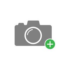 Add photo icon simple design