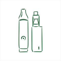 Vector hand drawn  vaporizers illustration on white background