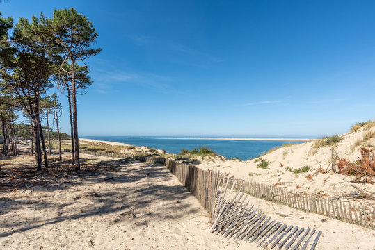 BASSIN D'ARCACHON (France), accès à la plage du Petit Nice