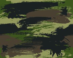 Seamless brushstroke camouflage vector pattern