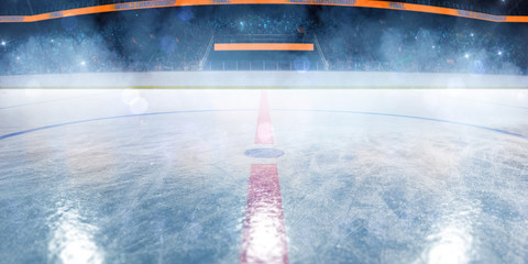 Hockey ice rink sport arena empty field Wall mural