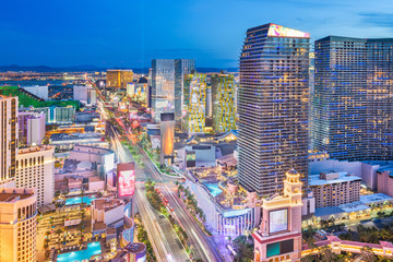 Fototapete - Las Vegas, Nevada, USA cityscape
