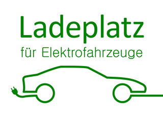 Schild Ladeplatz für Elektrofahrzeuge