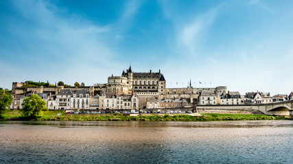 Amboise medieval castle, Leonardo Da Vinci tomb. Loire Valley, France, Europe. Fototapete