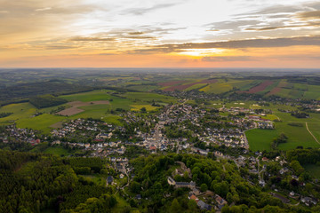 panoramic view of the city hartenstein in the ore mountains