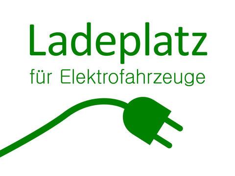 """Schild """" Ladeplatz für Elekrofahrzeuge """""""