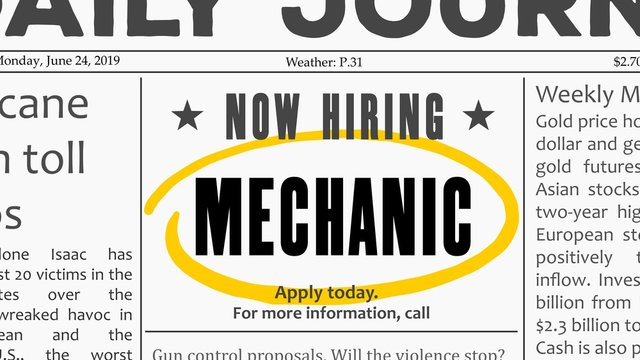 Mechanic career opportunity