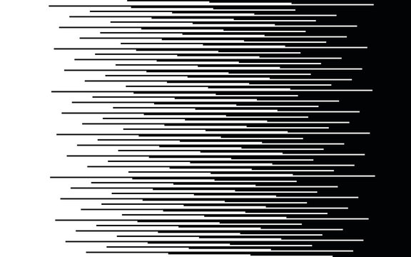 Speed lines Gradient seamless pattern Vector texture Fast effect design Black elements on white background