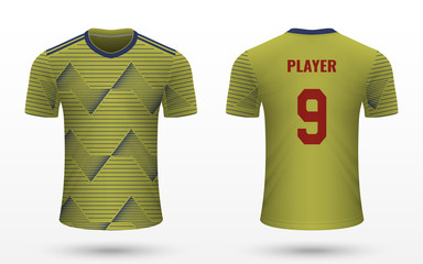 Realistic soccer shirt jersey