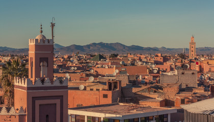 View of the roofs of Marrakech