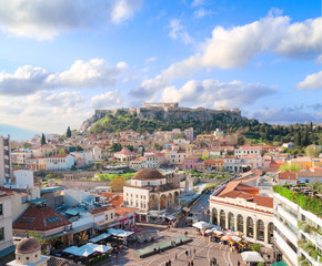 Keuken foto achterwand Athene Skyline of Athenth with Acropolis hill