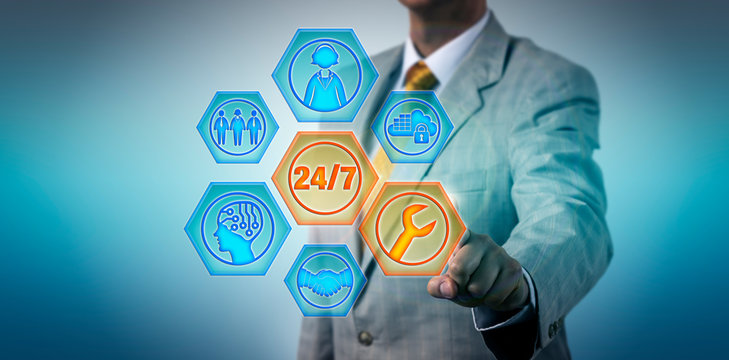 Business Manager Activating 24/7 Managed Services
